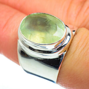 Prehnite-925-Sterling-Silver-Ring-Size-7-75-Ana-Co-Jewelry-R47303F