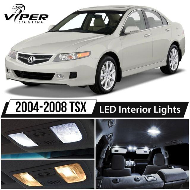 2004-2008 Acura TSX White LED Interior Lights Package Kit