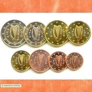 Kursmünzensatz Irland 2012 1c 2 Euromünzekms Alle 8 Münzen Satz