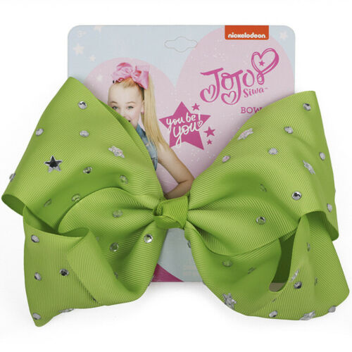 8 Inches Big Sequins JOJO SIWA Bow Diamond Hair Bow With Clip Girl Kids Bowknot