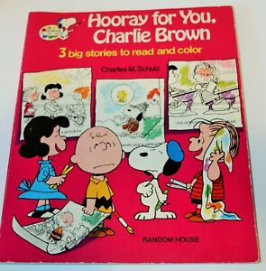 Details About Hooray For You Charlie Brown Read And Color Book Random House 1977 Snoopy
