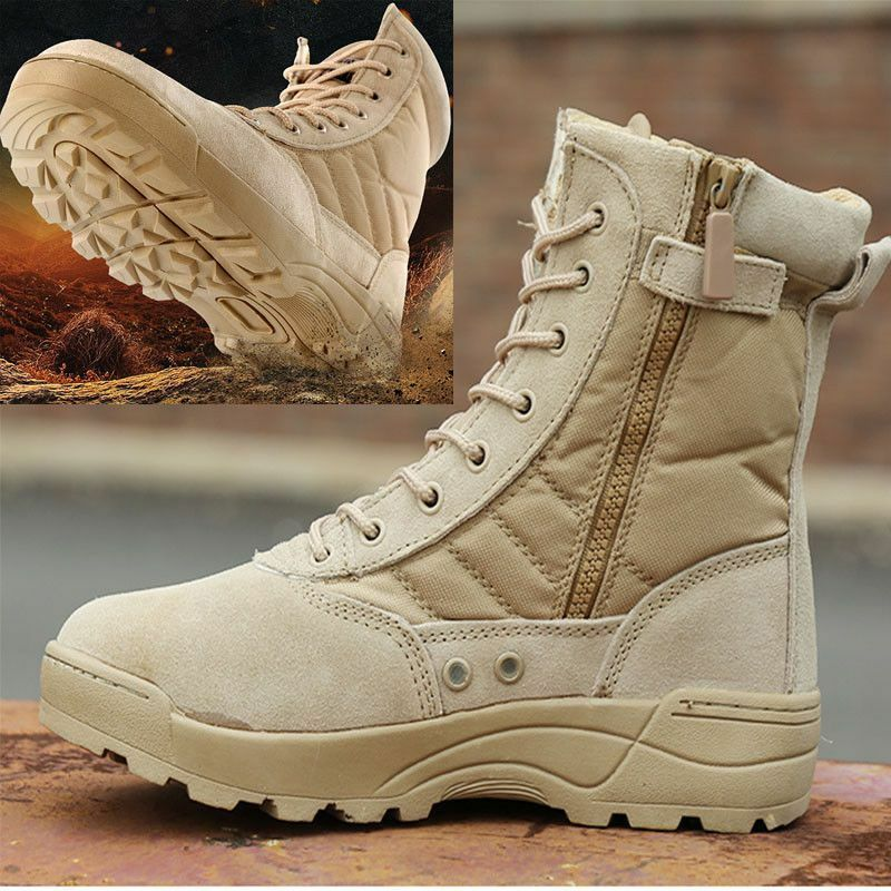 Military Tactical Boots Men Hiking shoes Breathable Outdoor Hunting Women Size