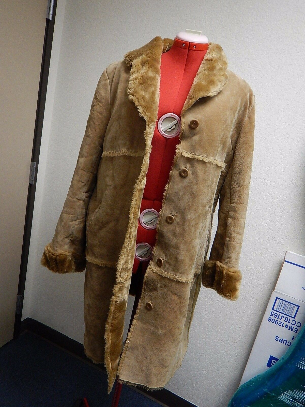 Leather Coat Retro 70's 70's 70's by Brandon Thomas size XL -  TF 03e40b