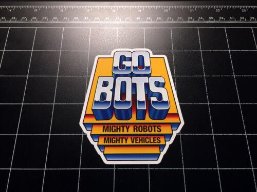 Go bots Logo Autocollant Vinyle Autocollant Années 1980 80 s Toys Gobots Transformers Jouet GO-BOTS