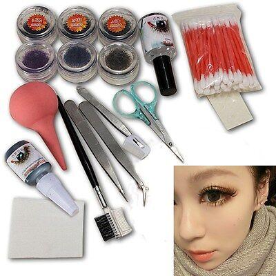 Professional Makeup False Eyelash Eye Lashes Extension Cosmetic Set Kit