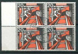 BRD-Mi-Nr-272-Bogenrand-als-4er-Block-zentrisch-gestempelt