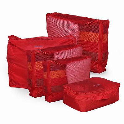 5x Clothes Underwear Socks Storage Bag Packing Cube Travel Luggage Organizer Set