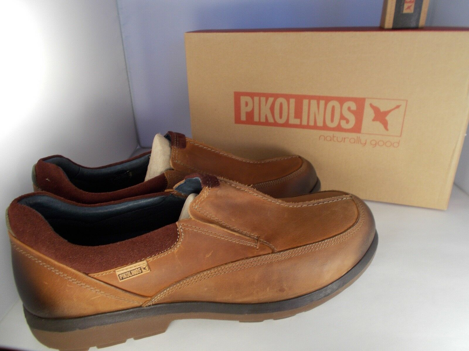 Pikolinos Badajoz M0H-3069SP Brown Leather Men's shoes Size 12.5-13 New In Box