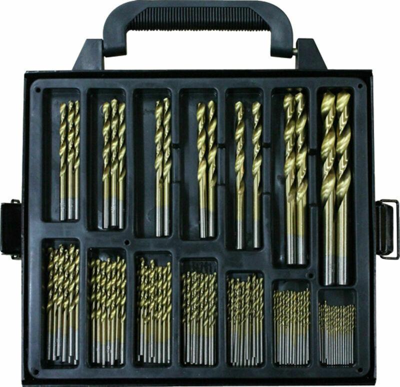 99Pcs Drill Bits Titanium Coated Metal HSS Twist Steel Brick Tools Set