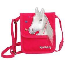 Depesche 10773 weißes Pferd Miss Melody Brustbeutel Geldbeutel Glitzer lila