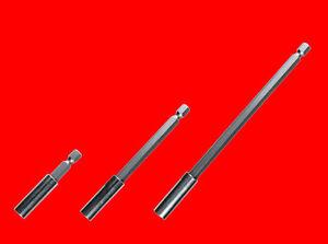 3 x Magnet Bithalter Für Bits Akkuschrauber Bohrmaschine 60-100-150 mm TS724109