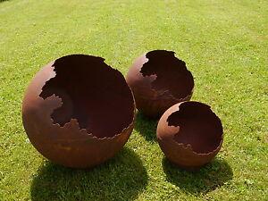 Kugel Vase Edelrost 30 50 Cm Rost Gartendeko Rostdeko Deko Garten
