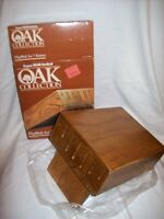 Regent Sheffield Oak Flipblok 7 Knife Holder Vintage With Box