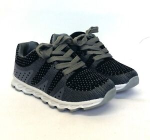 Kids Boys Running Trainers Fitness Gym Sports Comfy Lace Up Shoes Grey Size  New   eBay