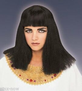 Cleopatra Wig Fancy Dress Costume Party Wig Black Deluxe quality wig ... 89b1adeb8