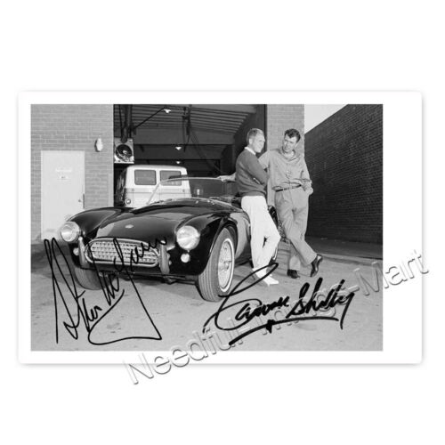 Autogrammfoto laminiert Steve McQueen and Carol Shelby