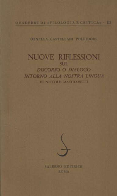 Nuove riflessioni sul Discorso o dialogo intorno alla nostra lingua di Niccolo