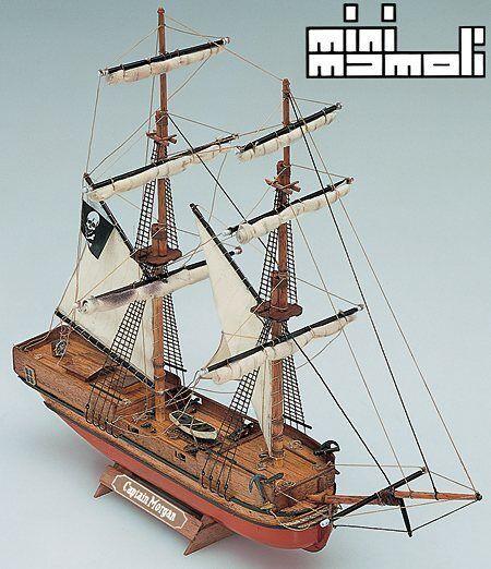 Mini Mamoli Captain Morgan 17th Century Brig 1 135 MM5 Scale Model Boat Kit