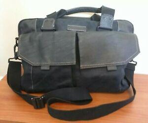 Details About Marc New York Andrew Black Cotton Faux Leather Shoulder Bag Purse