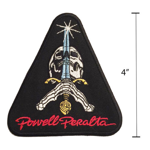 Powell Peralta Skull /& Sword Sew On Jacket Patch 4.25 Inch Old School Skateboard