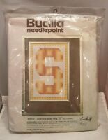 "Bucilla Needlepoint Embroidery Initial Kit #4902 14 x 20"" Vintage Craft Supplies"
