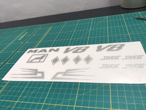 Tamiya Man Truck Dutch Decals Stickers 1//14