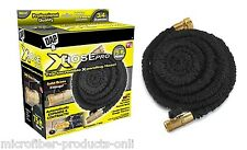 Xhose PRO 75ft X Hose Original Expanding Hose Black with Solid Brass Fittings