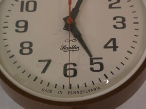 Franklin Wall Clock Vintage Ebay
