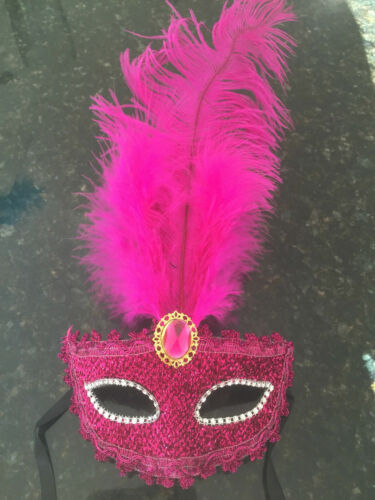 Venetian Glitter//Butterfly Fancy Dress Eye Feather Ball Masks Masquerade Masks