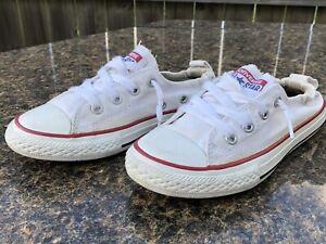 white chucks sneakers size