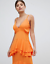 Missguided-Orange-Strappy-Ruffled-Tiered-Maxi-Dress-Size-6-10 thumbnail 3