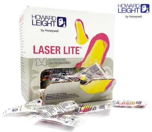 idéal pour ronflement Howard Leight Laser Lite Bouchons D/'oreille 10 Paires Confortable Mousse