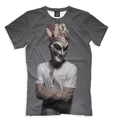 Boris Brejcha Mask T-Shirt DJ High-Tech Minimal Techno Music Mens Fashion Crew Neck Short Sleeves Cotton Tops Clothing Black