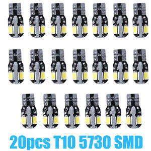 20-x-Canbus-T10-194-168-W5W-5730-8-LED-SMD-White-Car-Side-Wedge-Light-Bulb-Hot