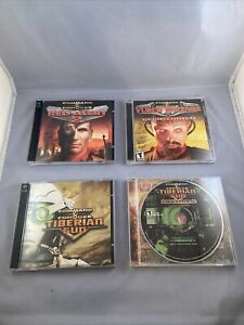 LOT of 4 Command & Conquer: Red Alert 2, Yuri's Revenge, Tiberian Sun, Firestorm