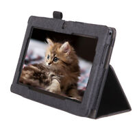 """iRULU 7"""" Black Leather Protective Folio Case Stand Cover for eXpro X1 Tablet PC"""