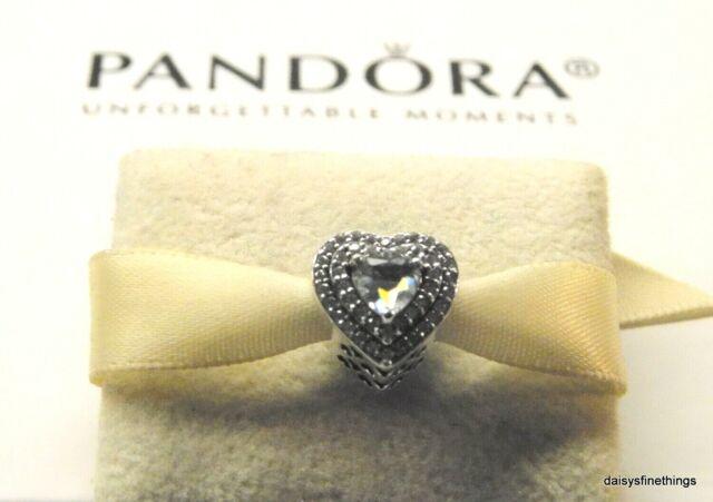 Authentic PANDORA Moments Charm Sparkling Leveled Love Hearts Bead  #799218c01