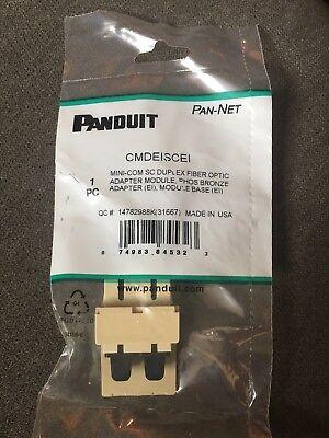 Panduit PAN-NET Mini-COM SC Duplex Fiber Optic Coupler Module CMDSCIG