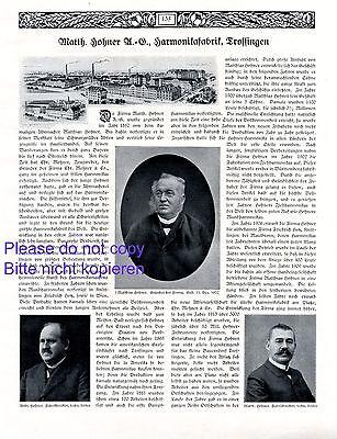 Einfach Und Leicht Zu Handhaben Harmonika Hohner Und Weiß Trossingen Xl 1916 Reklame & Historie Mundharmonika Sonstige