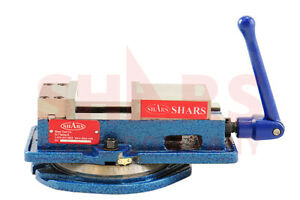 SHARS-4-x-4-1-8-034-Precision-Mill-Vise-Anti-Jaw-Lifting-W-Swivel-Base-New