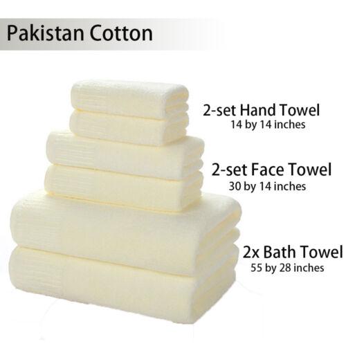 Arrival Soft Cotton Absorbent Terry Luxury Hand Bath Beach Face Sheet Towel 6PCS