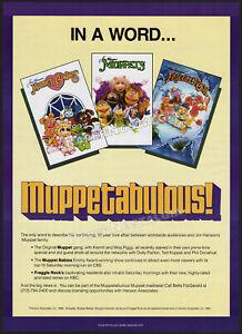 MUPPETS / MUPPET BABIES / FRAGGLE ROCK__Orig. 1988 Trade AD / poster__JIM HENSON