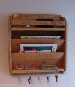 Image Is Loading 18 034 Handcrafted Mail Organizer Phone Key Rack