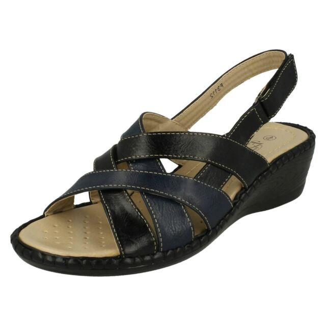 LADIES EAZE FOR COMFORT WEDGE SANDALS IN 3 COLOURS STYLE F10264