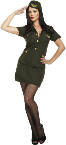 Ladies Army Lady Fancy Dress Costume Outfit Military Uniform WW2 U88 123