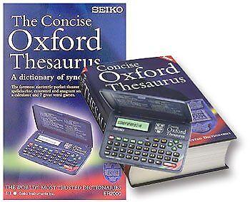 Seiko Concise Oxford Electronic Thesaurus ER2100 Thesaurus, Spellchecker, Cross