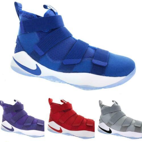 Men/'s Nike LeBron Soldier XI 11 TB Promo 943155 Grey Red Blue Purple Size 14