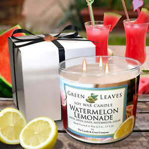 Watermelon-Lemonade-Handmade-Hand-Poured-all-Natural-100-Soy-Candle-Gift