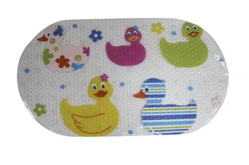 PVC Duck Design Clear Quackers Kids Childs Bath Shower Non Slip Suction Mat