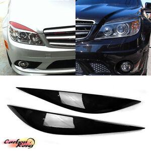 Painted mercedes benz c class w204 4d headlight cover for Mercedes benz c300 headlights